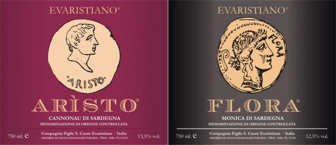 Evaristiane - etichette vini