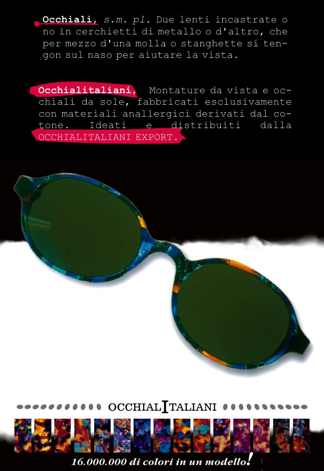 Occhiali italiani - adv